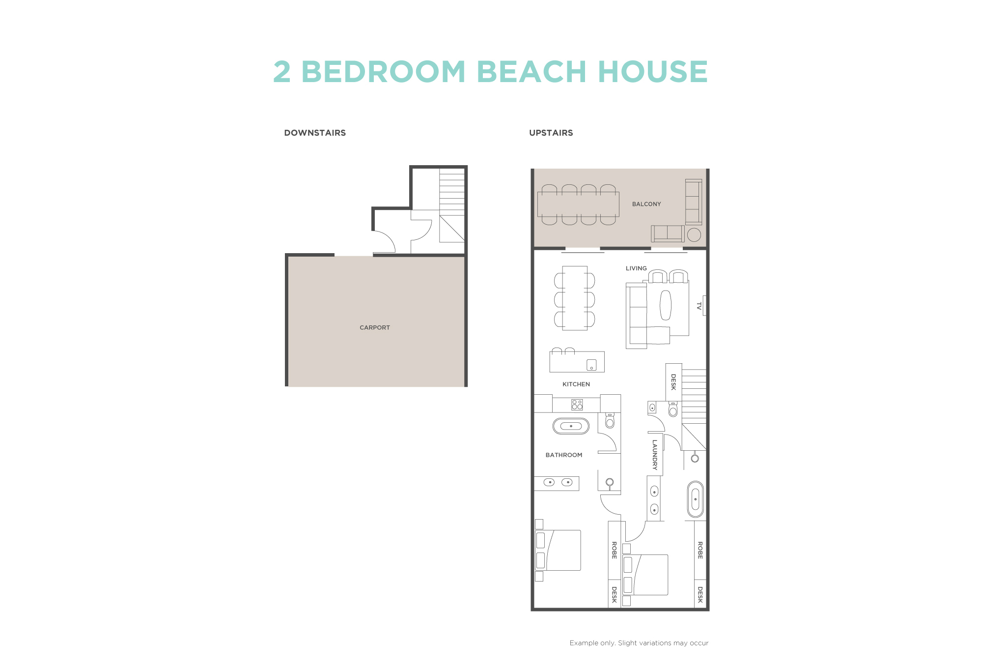 2 Bedroom Beach House floor plan